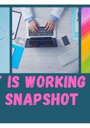 Working well report
